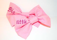 Big Sister/Little Sister Sorority Embroidered by HannahArielBows, $30.00