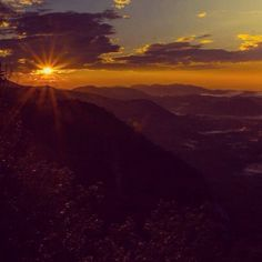 Early morning sunrise Blue Ridge Parkway Brevard, NC