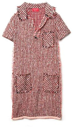 Tweed Dress - Lyst Tweed Dress, Lanvin, Lady In Red, Raincoat, Short Sleeves, Men Casual, Slip On, Knitting, Crochet