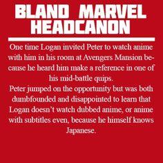 Bland marvel headcanons - anime YES YES YES