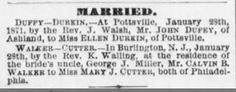 Genealogical Gems: Wedding Wednesday: Rev. Walsh unites Durkin and Du...