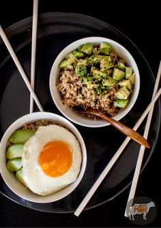 brown rice (Jasmine)avocado bowl with eggs (minus soy sauce and add nori strips, green onions(green part only)and coconut aminos)