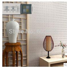 Estilo chinês sala de jantar 3D papel de parede desenho geométrico fundo da parede não tecido papel de parede moderno para sala de estar wallcovering em Papéis de parede de Melhorias na casa no AliExpress.com | Alibaba Group