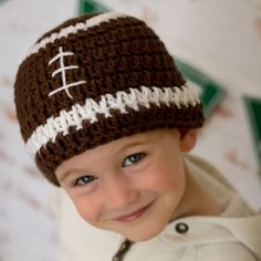 This listing is for our Crochet Football Hat Pattern. *This is a PDF pattern download; not a finished item*  This hat is perfect for tailgating,