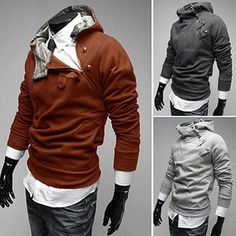 Fashion men Slim fit Hoodies Sweatshirts men's casual coat men Jacket men shirt