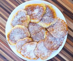 Pancakes cu mere - Din bucataria lui Micky Mini Appetizers, Sweet Memories, Puddings, Baby Food Recipes, Pancakes, French Toast, Deserts, Sweets, Cookies