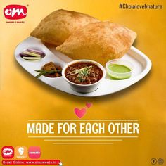 These Jodis can never fail to make everyone Happy! They are made for each other and complete each other. Yes, they are Chole Bhature and Dal makhni rice! Tell us in the comment section which one is your favourite? #cholebhature #daalmakhni #tastyfood #foodforfoodies #omsweets Om Sweets, Which One Are You, Rice, Yummy Food, Canning, Happy, Delicious Food, Ser Feliz, Home Canning