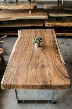 Came across a similar Suar wood table like this yesterday and we fell head over heels for it immediately. #tableporn Suar Table Top x Herman Furniture Singapore