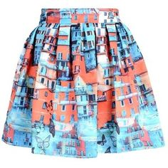 Pre-owned Alice + Olivia & Canal Printed Flared Mini Skirt