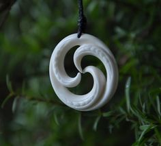 Trinity Pendant carved in bone by JackieTump on Etsy