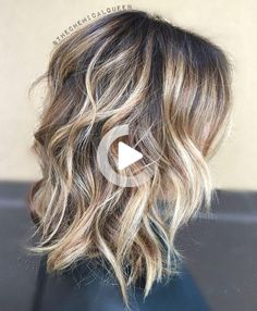 Medium-length hairstyles can take a turn for the beautiful when given a little color or texture. Try one of these 50 haircuts! #bestcurlyhairstyles