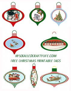 Fun Shrinky Ornament Christmas Tags