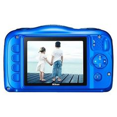 Nikon Coolpix S33 13.2MP Waterproof Digital Camera with 3x Zoom - Blue