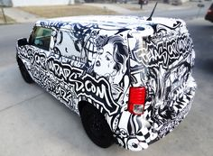 Cool car wrap by   TexasCarWraps.com