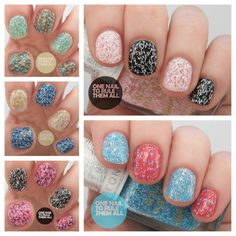 Barry M Summer 2013 Confetti Nail Effects/Polish Review and Swatches