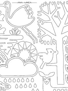 """Un primer plano de """"Ya llega la primavera"""". Disponible en versión I (fácil) y II ( difícil). Podéis descargar ambas en https://chocolateillustration.com/artistas-ilustradores/ana-linea-arquitecta-disenadora/ #chocolateillustration #dibujosparapintar #colorear #yocoloreo #analinea #yallegalaprimavera"""