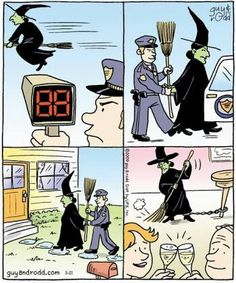 Witches Halloween Witches, Halloween 2017, Vintage Halloween, Witch Jokes, Laugh Cartoon, Childhood Fears, Funny Jokes For Adults, Halloween Cartoons, Witch Art