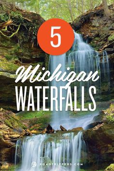 Spectacular Michigan waterfalls you must see! My last state in the continental US to see, I think a road trip is in order for this summer! Michigan Vacations, Michigan Travel, State Of Michigan, Northern Michigan, Lake Michigan, Detroit Michigan, Camping Michigan, Alpena Michigan, Vacation Places