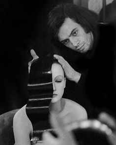 Serge Lutens preparing the model Isabelle Weingarten for a picture in the style of Fernand Léger, 1972 Serge Lutens Makeup, World Of Fashion, Fashion Brand, Artist Makeup, Dior Beauty, Diana Vreeland, French Photographers, Beauty Industry, Fashion Photography