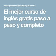 El mejor curso de inglés gratis paso a paso y completo English Articles, English Resources, English Tips, English Activities, English Class, English Lessons, Learn English, Listening English, Teaching English