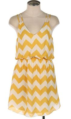 Yellow chevron dress $46