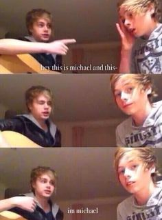 I love this Luke Luke's so done at first, and then Michael being so adorable