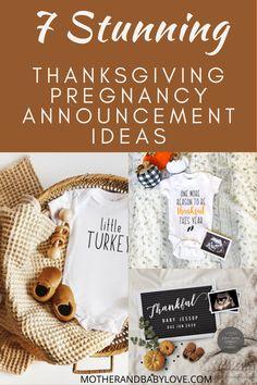 The Cutest Thanksgiving Pregnancy Announcement Ideas Thanksgiving Pregnancy Announcement, Pregnancy Announcement Photos, Pregnancy Photos, Pregnancy Humor, Pregnancy Workout, Pregnancy Countdown, Pregnancy Information, Family Thanksgiving, Mom Blogs
