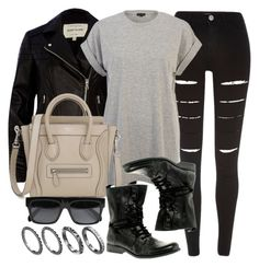 """Style #9600"" by vany-alvarado ❤ liked on Polyvore featuring River Island and CÉLINE"