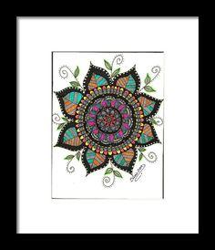 Mandala Color Framed Print By Silvia Ricciardi