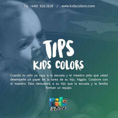 #KidsTips Cuando tu hijo ya vaya a la escuela haz equipo con los profesores.  #KidsColors www.kidcolors.com