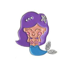 Mermaid Soft Enamel Glitter Lapel Pin