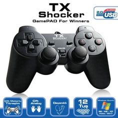 TX TXACGPAD01 Pc Uyumlu Shocker? Dijital - Analog Gamepad