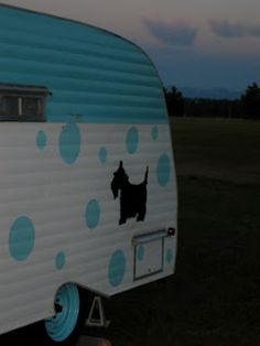 Love the polka dots and Scottie dog! Vintage and modern at the same time!