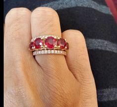Ruby 5 Stone Ring