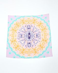Mirrored Floral Crepe Silk Scarf