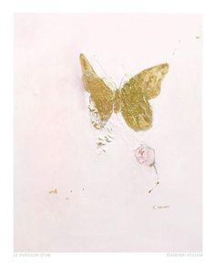 Le Papillon D'or  acrylic on canvas