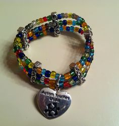 """""""Autism touches us all"""" heart charm)"""