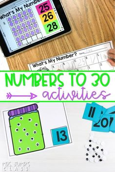 Your students will have fun practicing their numbers to 30 with these amazing resources! Digital and printable centers and activities. #mathcenters #numbersto30 #kindergartenmath #digitalcenters