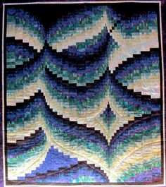 Bargello Quilt by Jill at Modern Quilt Relish.  'Fireflies' pattern, in  Bargello Quilts by Marge Edie (Martingale, 1994).
