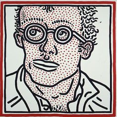 Keith Haring, Untitled(Self-portrait), 1985 Acrylic on canvas 48 x 48 inches…