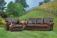 Outlaw Sofa, Oversized Chair and Ottoman-SR