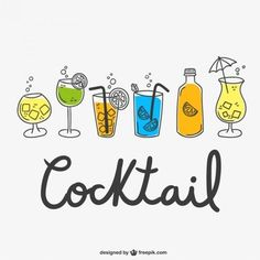 dessins de cocktail emballent