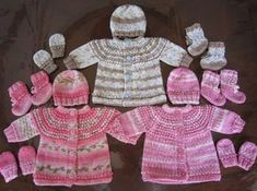 Preemie and Newborn Seamless Sweater, Hat, Mittens and Booties pattern @ Sea Trail Grandmas Baby Mittens Knitting Pattern, Knitting Patterns Free, Baby Patterns, Knit Patterns, Free Knitting, Free Pattern, Beanie Pattern, Knitting For Charity, Knitting For Kids