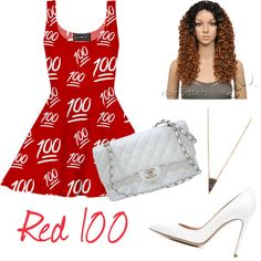 Red-Red-Red by brendadg on Polyvore featuring polyvore fashion style Gianvito Rossi Chanel