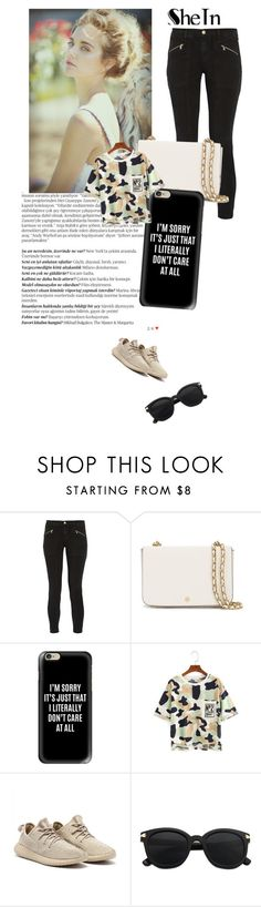 """Camo Mode"" by ayannap ❤ liked on Polyvore featuring Balmain, J Brand, Tory Burch and Casetify"
