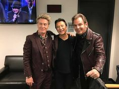Steve Perry,Neal Schon and Ross Valory at RRHOFAME,April 7,2017.