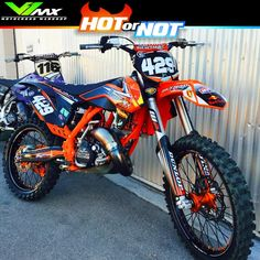 Hot or Not? KTM 150SX build by Ryno429. #dirtbike #motocross #ktm