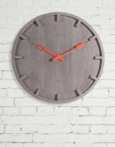 seletti 'memento concrete clock' designed by alessandro zambelli Clock Art, Diy Clock, Clock Decor, Cement Design, Wall Watch, Concrete Cement, Modern Clock, Wood Clocks, Wooden Wall Art