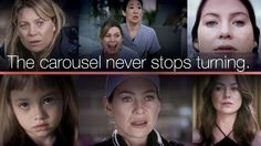 """The carousel never stops turning."" Meredith Grey, Grey's Anatomy quotes, Derek can't leave :("