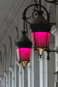 Rue de Rivoli, Paris... These lights are right outside the  hotel I stayed in...they are FAB!